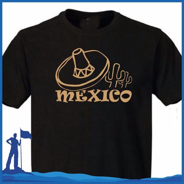 2018 марка camiseta с парнями мода Мексике Мексике и Соединенных Штатов мексиканское сомбреро algodón де манга корта Хомбре мужская футболки