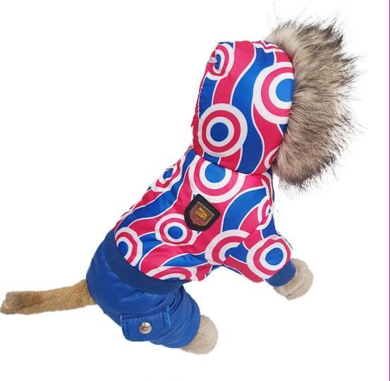 2018 nouveaux vêtements de chien de style doux vêtements vêtements chauds manteau de coton, magie à quatre pattes hiver tissu manteaux chauds taille S-XL