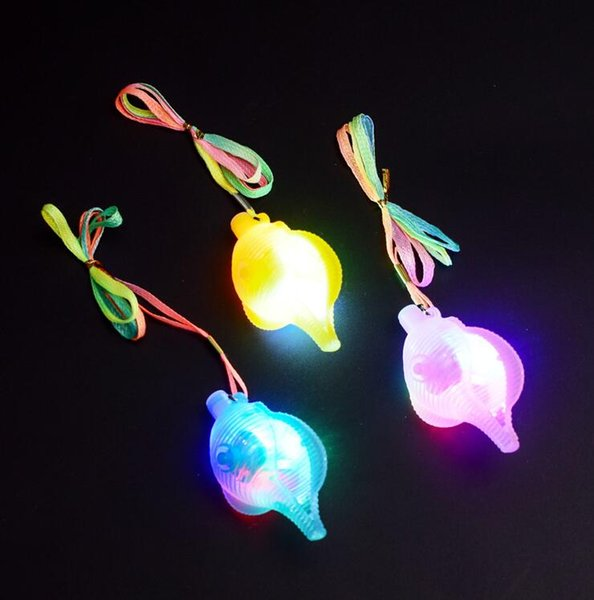 LED Light-Up Flashing Conch Necklace Pendants Glow Jewelry Rope Chains Kids Birthday Party toys Halloween Christmas YH1373