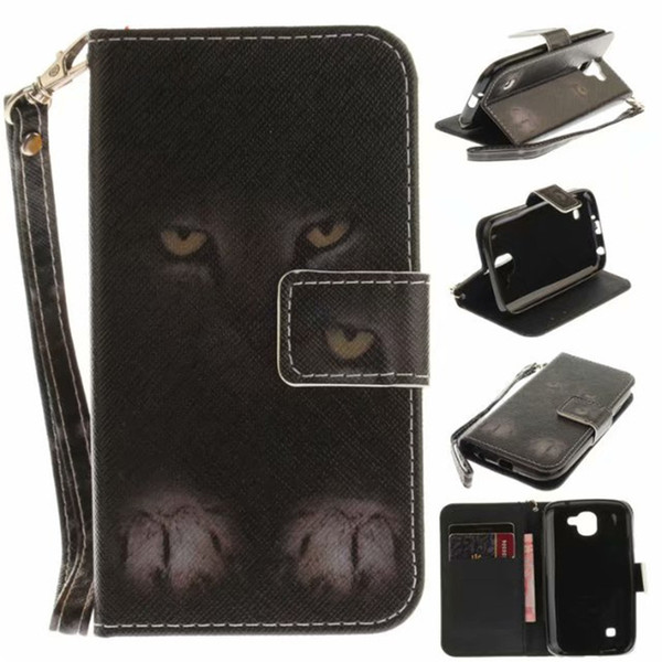 Flip Wallet Case For LG K3 2017 Cases Coque Animal Wolf Owl Tiger Lion Painted PU Leather Phone bags accessories Cover