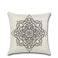 Wholesale 9 Styles Bohemian Pattern 45*45cm Household Linen Cushion Covers Bedroom Seat Christmas Gifts Home Decor Party Decoration