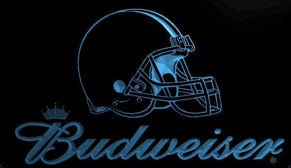LS1990-b-Cleveland-Browns-Helmet-Budweisers-Bar-Neon-LED-Light-Sign Decor Envío gratuito Dropshipping Wholesale 8 colores para elegir