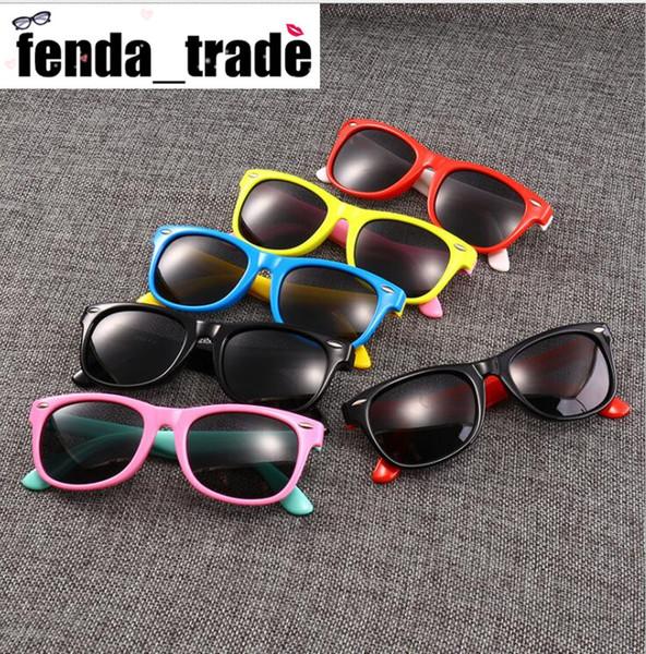 17 Colors MOQ=10pcs rubber frame New Children TAC Polarized Sunglasses Kids Designer Shades For Girls Boys Goggle Baby Glasses retro eyewear