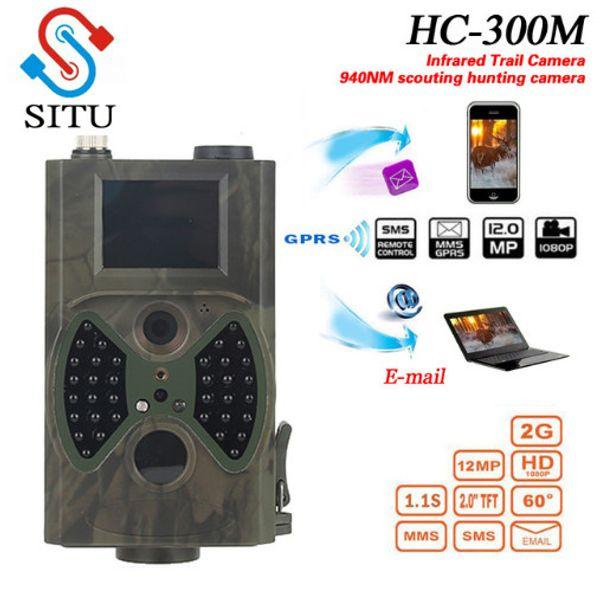 HC300M Hunting Trail Camera HC-300M Full HD 12MP 1080P Video Night Vision MMS GPRS Scouting Infrared Game Hunter light
