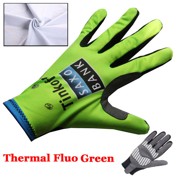 Tinkoff Saxo Bank Cycling Gloves Guantes MTB Winter Thermal Fleece Guantes Ciclismo Bike Gloves Cycling Long Gloves Guantes Bicicleta