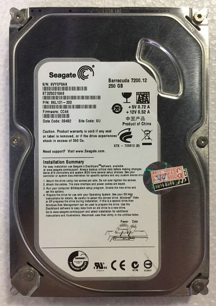 top popular 100% Tested Work Perfect for Original Seagate ST3250318AS 250G 7200 8M SATA2 2019
