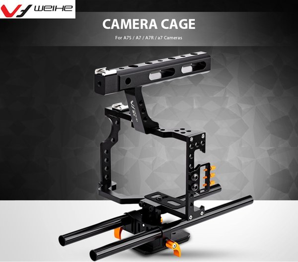Großhandels-DSLR-Kamera-Käfig-Anlage für A7S / A7 / A7R / a7 Kameras mit einem Griff-Fotoausrüstung-Kamera-Zubehör