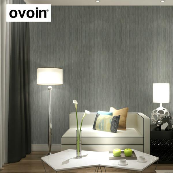 Plain Modern Sier Vertical Stripes Carta da parati Rotolo Interior Design Carta da parati Rivestimento soggiorno Beige crema Grigio oro