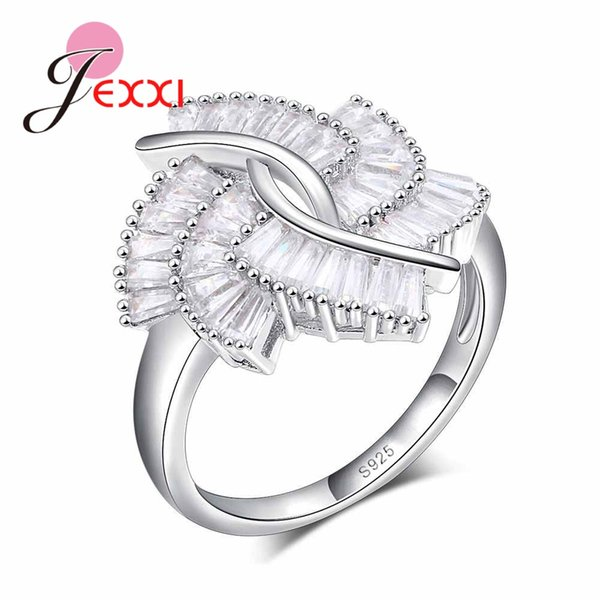 30cf293f278c JEXXI 925 Anillo de Dedo de Plata Esterlina Para Señora CZ Circón Anillo de  Compromiso de