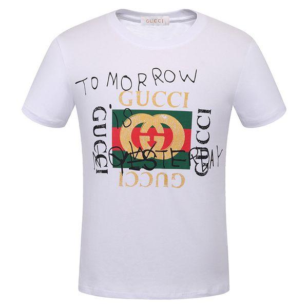 2018 neue Produkte aufgeführt, T-Shirt der Luxusmodemarke-Männer, Sommer-Rundhalsausschnitthemd, MehrfarbenbaumwollT-Shirt Mann, freies Verschiffen!