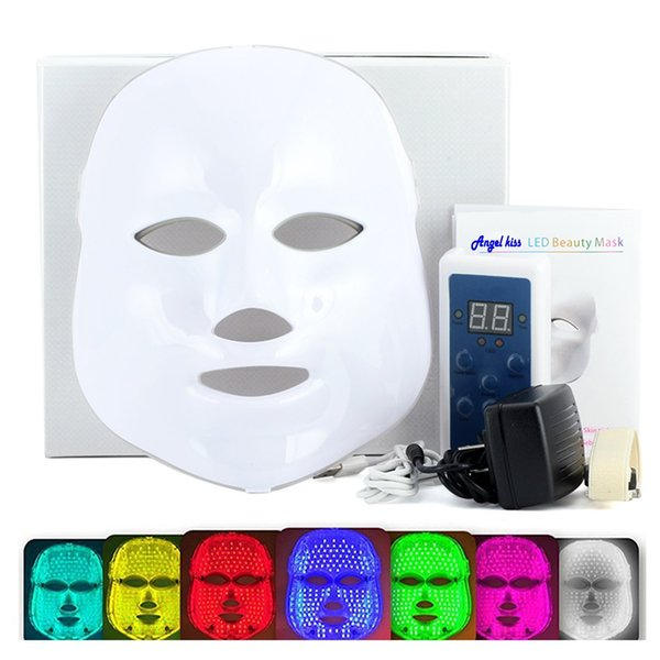 Hot selling 7 colors LED Mask home use PDT photon facial therapy light LED mask for face and neck rejuvenation wrinkle removal machine