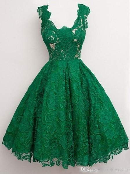 Emerald Green Prom Dresses Long vestidos curto de festa 2017 Ball Gown Cheap Lace Sleeveless Low Back Evening Homecoming Dres Party Gown