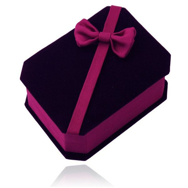 Graceful Purple Single Layers Engagement Ring Box Storage for Jewelry Pendant Holder Casket Display Jewelry Box Gift Case for Valentine's Da