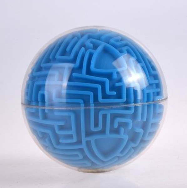 top popular 2018New clear blue 3D ball magic labyrinth ball toys for child Christmas gifts 2021