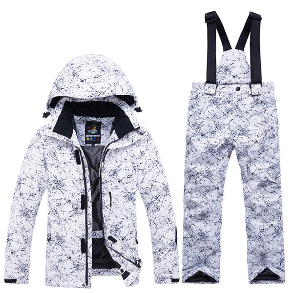 High quality Children Snow suit Coats Ski suit sets Gilr/Boy snowboarding clothing waterproof Super warm Winter jacket +bib pant