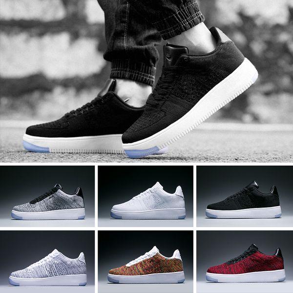 953fec78fddb Nike Air Force 1 Flyknit Low designer sneakers mens trainers nuevo estilo  línea de mosca Hombres