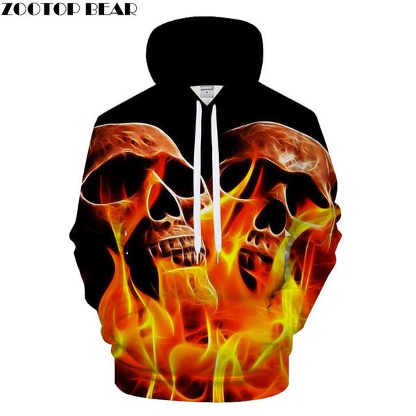 Skull Family 3D Hoodies Women Men Hoody Harajuku Sweatshirts Pullover Tracksuit Streetwear Coat Autumn Cloth DropShip ZOOTOPBEAR