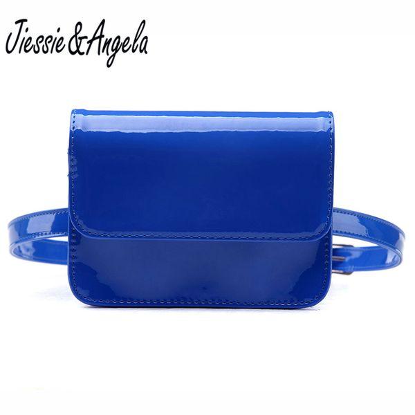 Jiessie & Angela Fashion PU Leather Waist Pack Women Fanny Pack Casual Female Waist Belt Bag Lady Phone Bag Handbag Drop Ship