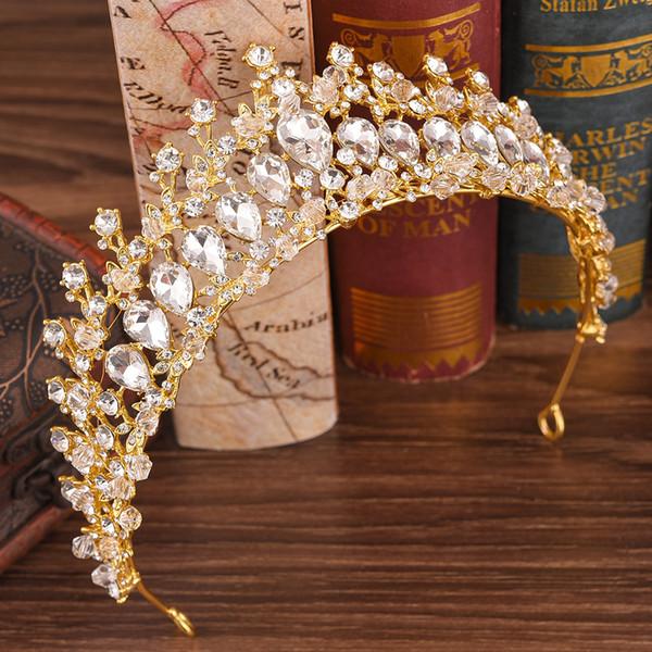 Silver Gold Crystals Wedding Crown Bridal Tiara Crown Rhinestone Crown Wedding Accessories Cheap Hair Accessories Cheap