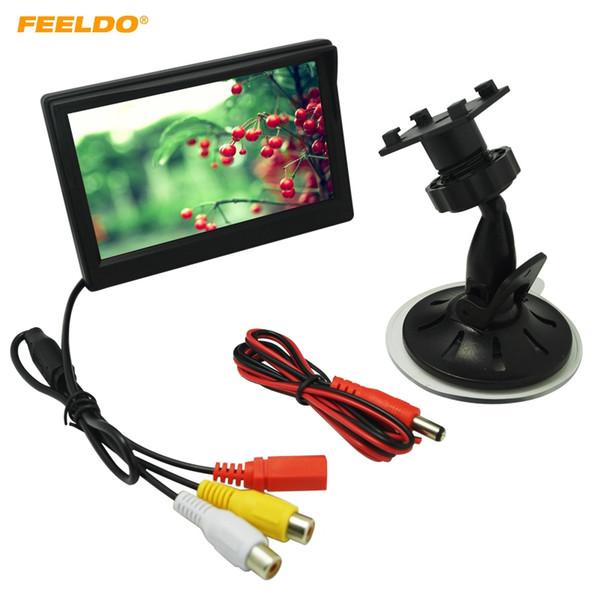FEELDO 5inch Digital Display Windshield LCD Car Monitor For Reversing Backup Camera DVD VCR #4574