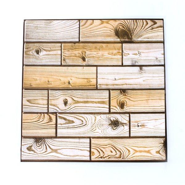 3D Wandpaneele Wohnzimmer PVC Schaum Wand Ziegel Holz Selbstklebende Wandsticker Stickie Schlafzimmer Wohnkultur Aufkleber
