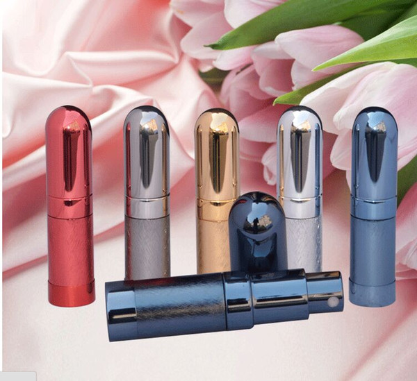 Perfume atomizer bottle 6ml travel refillable spray pump portable glass metal fragrance deodorant bottles container makeup tool colorful