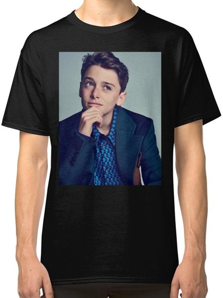 Noah Schnapp Men's T-Shirts Clothing Tees Men Funny O Neck Short Sleeve Cotton T-Shirt New Fashion Print Free Shipping