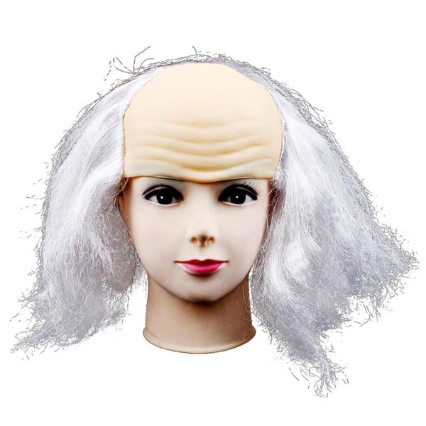 Bald Wig Pranking Funny Latex Wigs Wig Head Mask Old Lady Wigs Bald Cap For  Halloween Fools Day Masquerade Costume Masquerade Halloween Costume