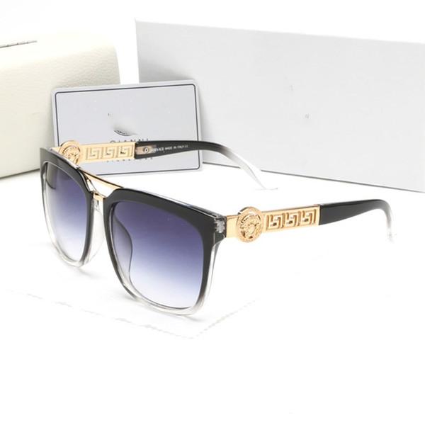 Gros été style italie marque medusa lunettes de soleil femmes hommes marque concepteur uv protection lunettes de soleil lentille claire et revêtement lentille