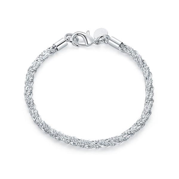 Hot sale!Hot selling snaking Chain Bracelets 925 silver bracelet JSPB511; New arrival girl women sterling silver plated Chain link bracelets