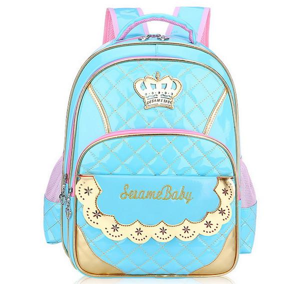 Nuovo arrivo Fashion Schoolbag PU Leather Leather Sacchetti di scuola Kids Girls Boys Satchel School Backpack