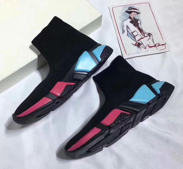 2018 Moda Kış Oreo 9 Renkler Erkek Kadın Kısa Streç Sneaker Outsoor Rahat Ayakkabılar Sıcak Çorap Ayakkabı Çizmeler