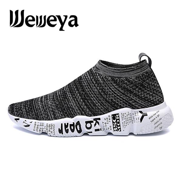 Calzado ligero para hombre Calcetines Calzado deportivo Transpirable Cómodo Slip-On Sneakers Mens zapatillas correr hombre