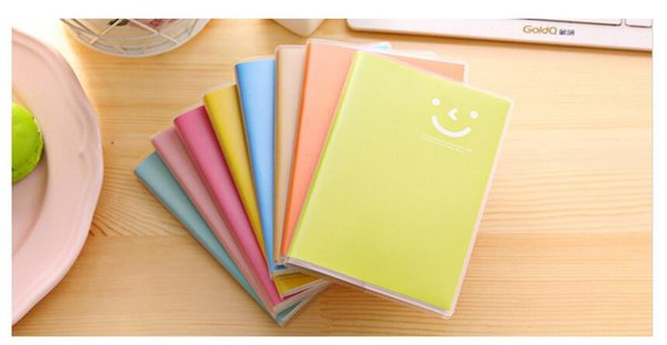 Wholesale Candy Color Smile Notebook For Kids School Office Notepad With Plastic Wrap Students Sketchbook Pocket Notebook Free Shipping