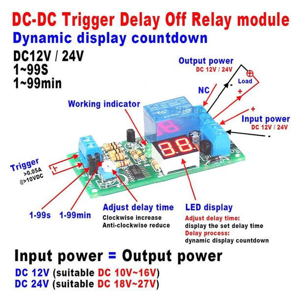 Freeshipping DC 12V LED Display Digital Delay Timer Control Switch Turn Off Relay Module for car