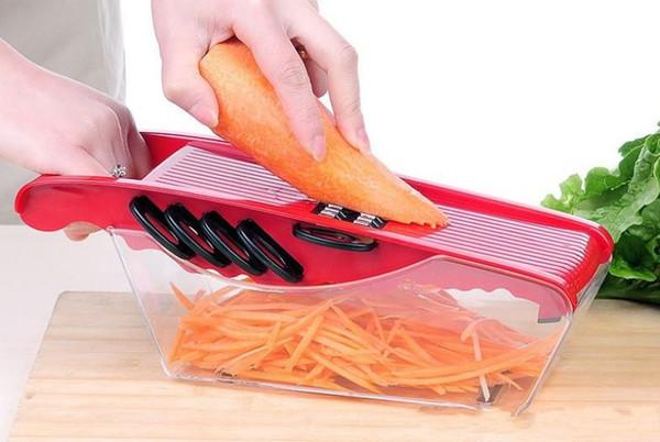 ABS + Cortador de Batata Em Aço Inoxidável Vegetal Slicer Chopper Chips Dispositivo Fries Cozinha Cozinhar Ferramentas Batata Slicer Vegetal