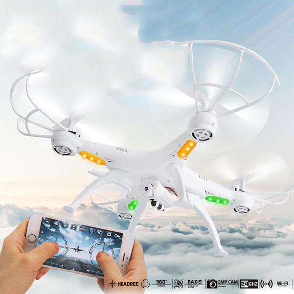 Nuovo 4 assi Quadcopter Drone Time WIFI Camera senza fili Wifi telecomando senza fili 2MP FPV RC elicottero contiene Light Drone