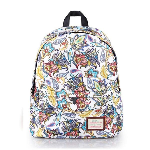 eb8eb21c581f Продажа 2018 Brand New Хорошее качество Популярные рюкзаки для девочек  Рюкзаки Свежие цветочные моды Цветочные женские