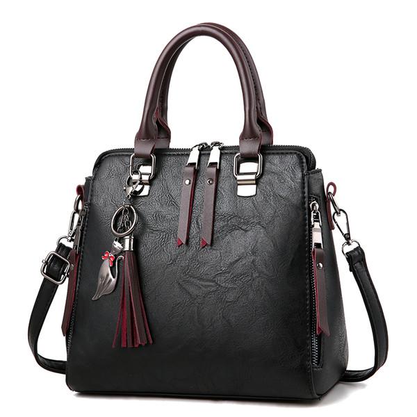 Girls Casual Shoulder Bag New Women Bag 2018 Cute Cat Decor Female Sweet Ladies Handbag Fashion Pu Leather Messenger
