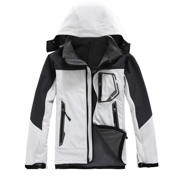 Hombres chaqueta de invierno SoftShell moda caliente al aire libre impermeable a prueba de viento ropa militar hombres abrigos de invierno envío gratis