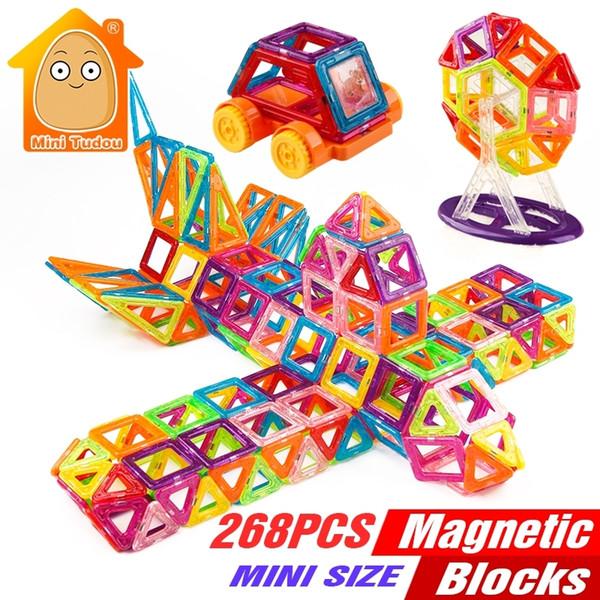 268PCS Mini Magnetic Building Blocks Toys Construction Bricks Set DIY Educational Magnet For Kids