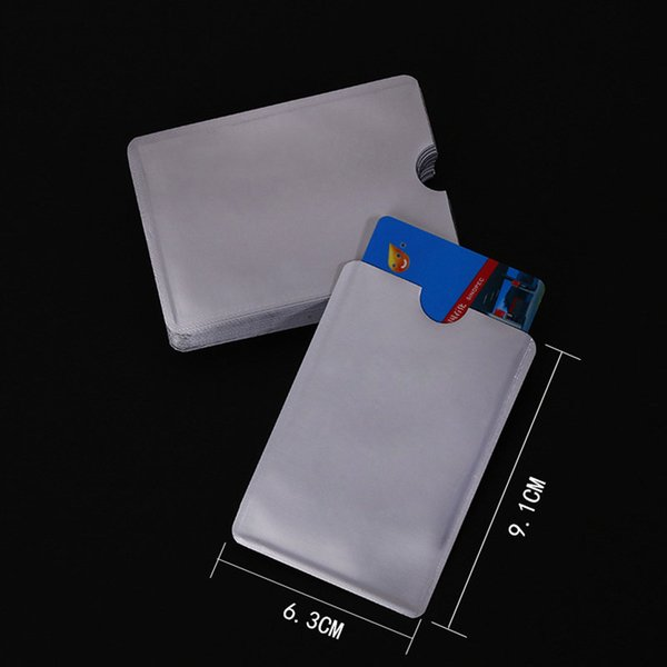 Aluminum Foil Security Card Shield Credit Card RFID Protection Anti-Theft & Security Sleeves Waterproof Blocking Sleeve Bank Card Holder