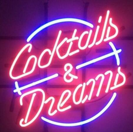 """Custom New COCKTAILS AND DREAMS PING Glass Neon Sign light Beer Bar Sign Send need photo 19x15"""""""