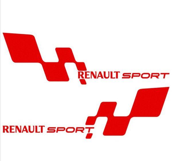 "2pcs/pair Waterproof ""Renault Sport ""Car Sticker 29*9cm For Renault ESPACE KOLEOS KADJAR CAPTUR FLUENCE MEGANE R.S.all Car Covers decoration"
