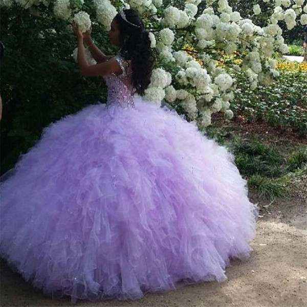 New Arrival Ball Gown Puffy Skirt Beaded Rhinetones Quinceanera Dresses Sweet Dress Debutante Gowns Plus Size Custom