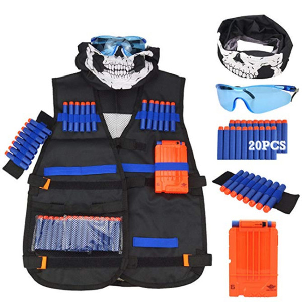 Kids Tactical Outdoor Game Tactical Vest Holder Kit Game Guns Accessories Toys N-Strike Elite Series s Gifts Toy
