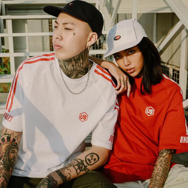 Mens T Shirt Tide Brand 2018 Summer New T Shirt Striped Men and Women Tees Couple Tee Tops Fashion Casual Mens Shirt Hip Hop Streetwear