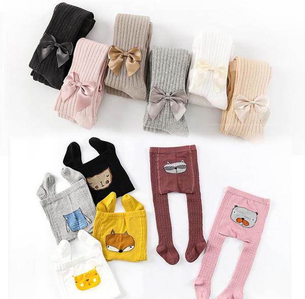 Baby big PP Pants girls boys Cotton Trousers Kids Wear bow leggings Unisex trousers kids clothes