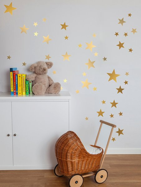 stickers for multi size mixed matte Gold Star Wall Sticker,kids room gold starry ceiling Decal Vinyl Nursery decor