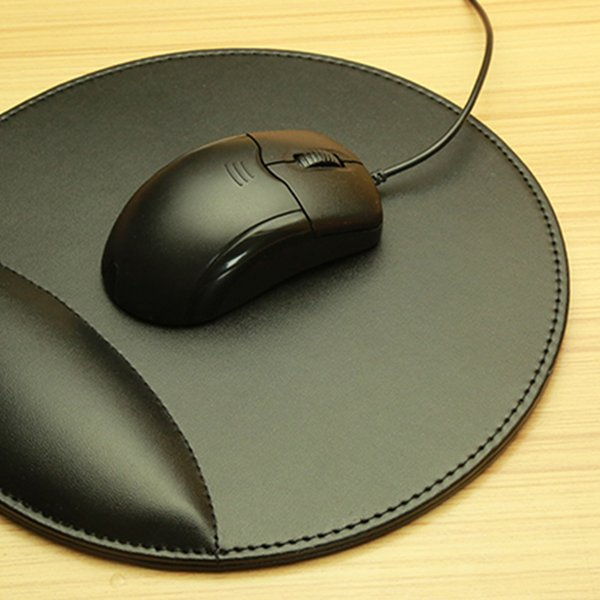 NOYOKERE Business 3D Leather Computer Mouse Pad with Wrist Rest Ergonomic Office Soft Sponge Wrist Support Mat mousepad for PC